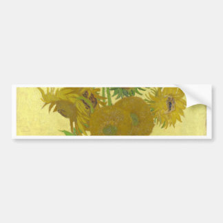 Sunflowers by Vincent van Gogh Bumper Sticker