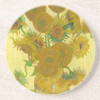 Sunflowers by Vincent van Gogh Drink Coaster