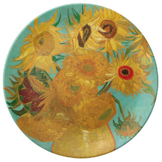 Sunflowers by Vincent Van Gogh Plate
