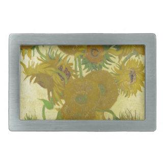 Sunflowers by Vincent van Gogh Rectangular Belt Buckle