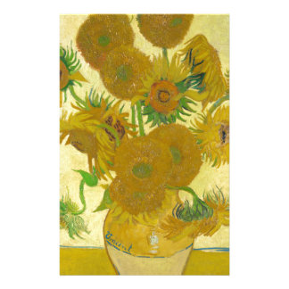 Sunflowers by Vincent van Gogh Stationery Design