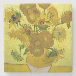 Sunflowers by Vincent Van Gogh Stone Beverage Coaster