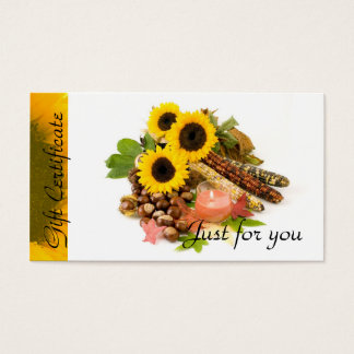 Sunflowers Candle Relaxation   Spa Massage Therapy Business Card