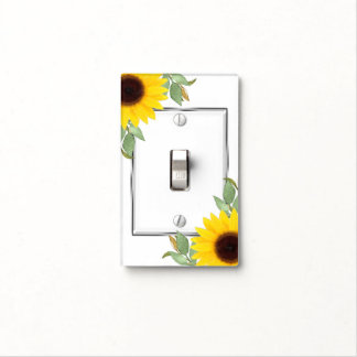 Sunflowers Chic Rustic Elegant Country Chic Cute Light Switch Cover
