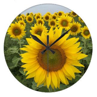 Sunflowers Colorful Custom Wall Clock