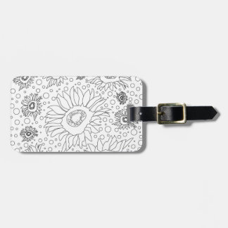 Sunflowers Coloring Page Luggage Tag