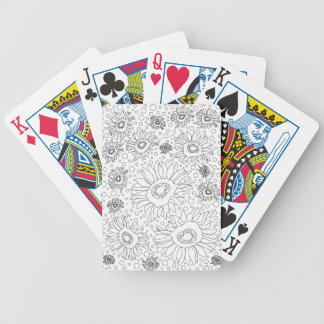 Sunflowers Coloring Page Poker Deck