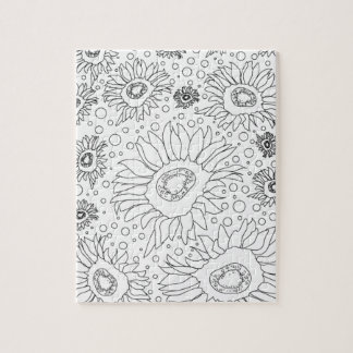 Sunflowers Coloring Page Puzzle