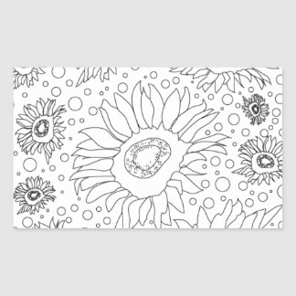 Sunflowers Coloring Page Sticker