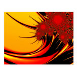 Sunflowers Colourful Abstract art Postcard