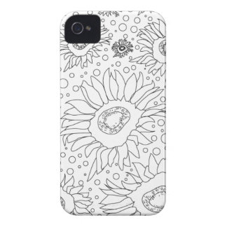 Sunflowers Colouring Page iPhone 4 Cases