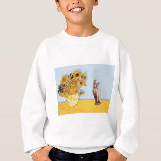 Sunflowers - Cream Sphyx cat Sweatshirt