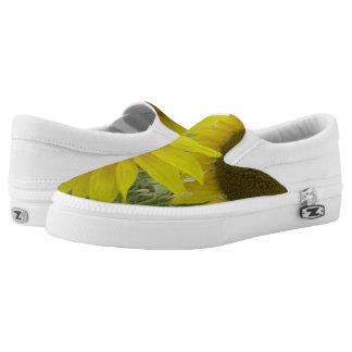 Sunflowers Custom Zipz Slip On Shoes, UK: 3