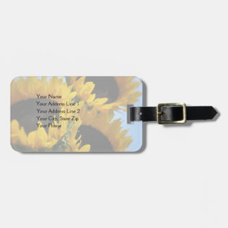 Sunflowers Customizable Text Luggage Tag