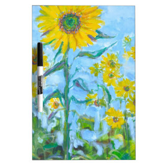 Sunflowers Dry Erase Board