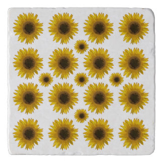 Sunflowers Everywhere Country Marble Stone Trivet