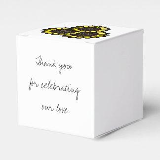 Sunflowers Favor Box