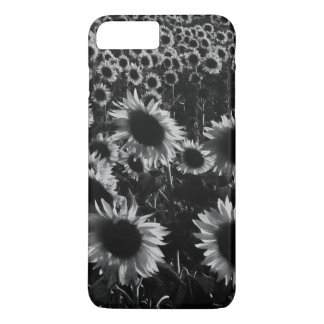 Sunflowers field in black and white iPhone 7 plus case