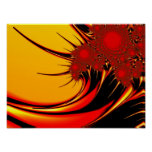 Sunflowers Fine Fractal Art Poster