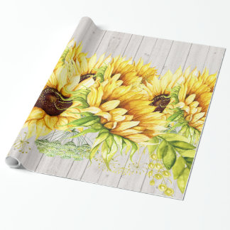 Sunflowers Gift Wrapping Paper