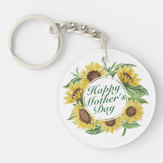 Sunflowers Happy Mother's Day Floral Keychain