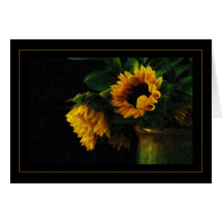 Sunflowers Impasto Paint Card