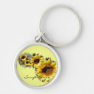 Sunflowers in a Row Keychain