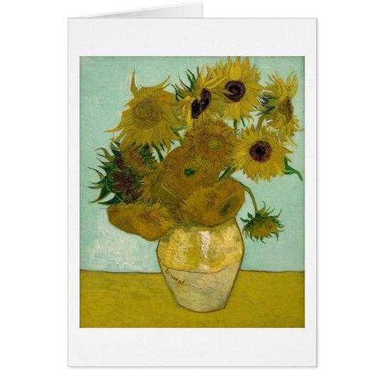 Sunflowers in a Vase (F456) Van Gogh Fine Art Card