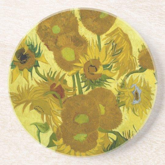 Sunflowers in a Vase Van Gogh Fine Art Coaster