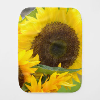 Sunflowers in Bloom Baby Burp Cloth