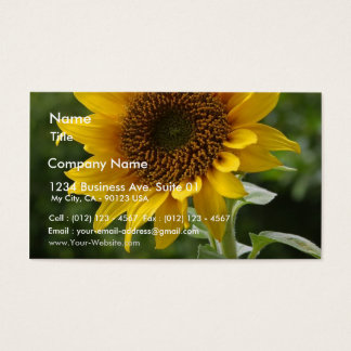 Sunflowers In Field Business Card