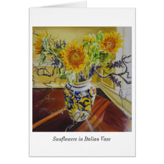 Sunflowers in Italian Vase notecard