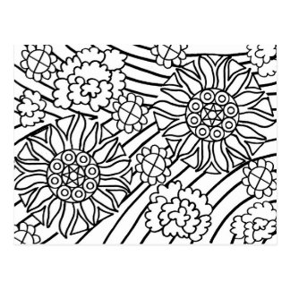 Sunflowers in Summer color your card