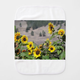 Sunflowers in the Mountains Burp Cloth