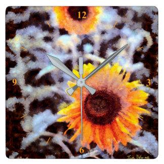 Sunflowers in the Snow Clocks