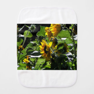 Sunflowers in the summer burp cloth