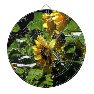 Sunflowers in the summer dart boards