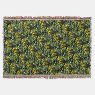 Sunflowers in the summer throw blanket