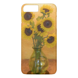 Sunflowers in vase on table 2 iPhone 7 plus case