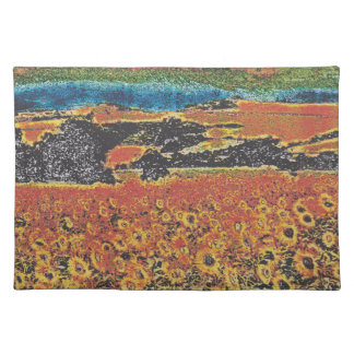 sunflowers izki park alava spain placemat