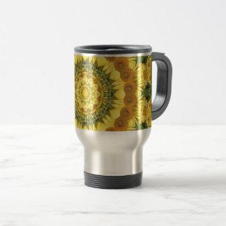 Sunflowers Nature, Flower-Mandala Travel Mug