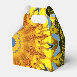 Sunflowers, Nature Mandala 004 Favor Box