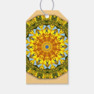 Sunflowers, Nature Mandala 004 Gift Tags