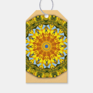 Sunflowers, Nature Mandala 004 Pack Of Gift Tags