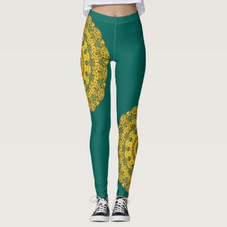 Sunflowers, Nature Mandala 007 02.2 Leggings