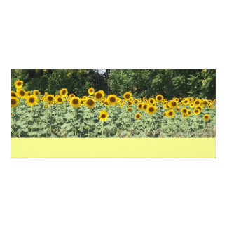 "Sunflowers of Italy 4"" X 9.25"" Invitation Card"