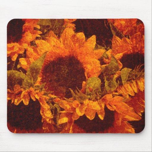 Sunflowers on Canvas Mousepad