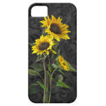 Sunflowers on Damask iPhone 5 Covers