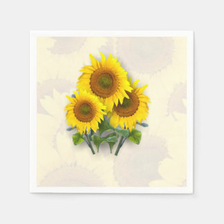 Sunflowers on Sunflowers Disposable Napkin
