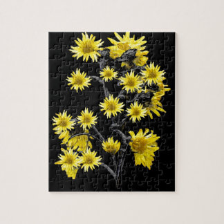 Sunflowers over Black Puzzle